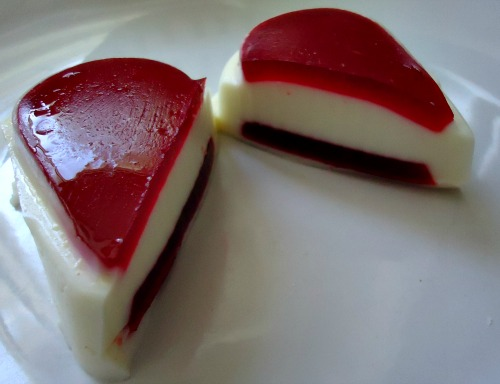 White & Red Valentine Jello