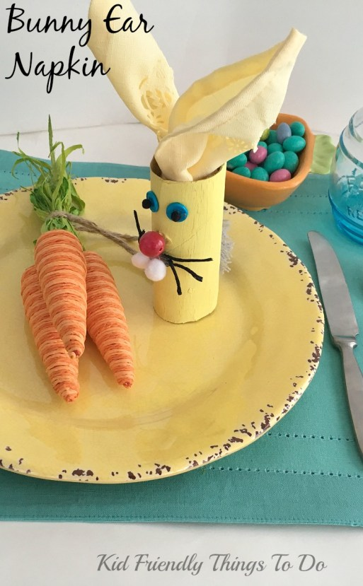 The cutest Easter Bunny Napkin Holder Craft ,ever! - KidFriendlyThingsToDo.com