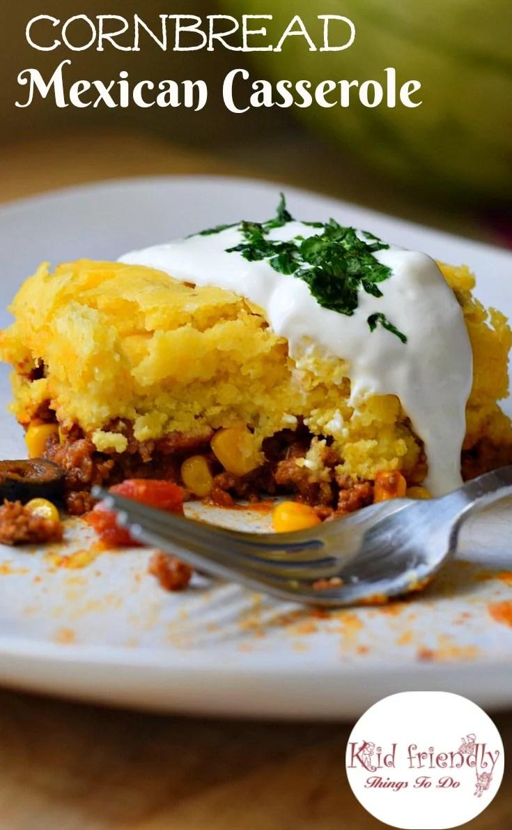 Cornbread And Ground Beef Mexican Casserole Recipe