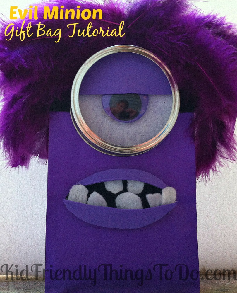Despicable Me Evil Minion Gift Bag Craft Tutorial! These are the best!