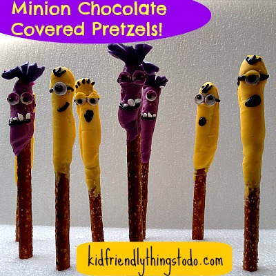Despicable Me 2 Chocolate Covered Pretzel Minions!