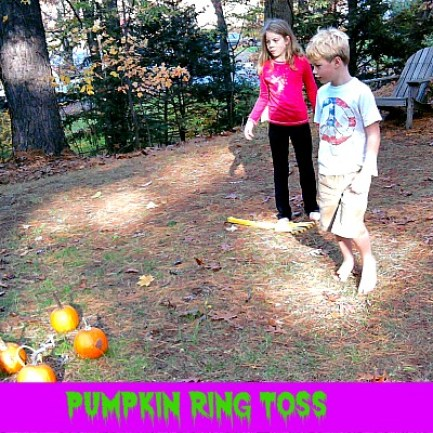 Pumpkin Ring Toss Game
