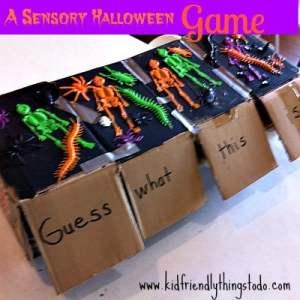 Easy Halloween Sensory Game