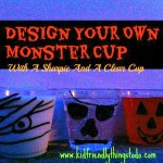 Use a sharpie to design Spooktacular Halloween party cups!