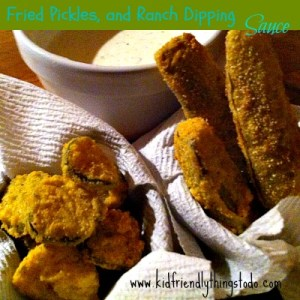 Fried Pickles With Ranch Dipping Sauce!