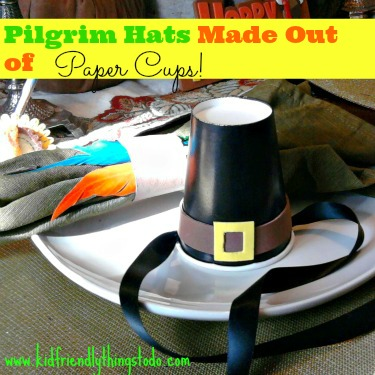 A Simple & Cute Pilgrim Hat Made From A Paper Cup!