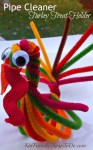 Pipe Cleaner Turkey Treat Holder and Craft for Thanksgiving - KidFriendlyThingsToDo.com