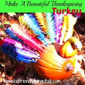 A Beautiful Turkey Craft & Display For Thanksgiving!