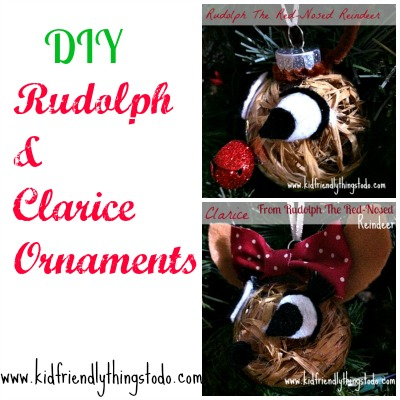 Rudolph and Clarice Ornaments