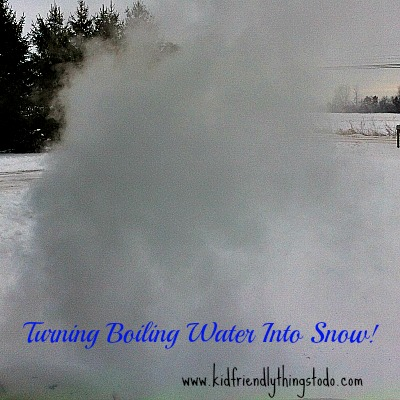 A Colorful Twist on Turning Boiling Water into Snow!