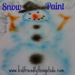 Easy DIY Snow Paint Recipe