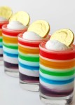 Rainbow Jell-O - A great idea for St. Patrick's Day!