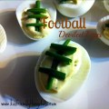 Delicious Creamy & Spicy Deviled Eggs Decorated Like Footballs!
