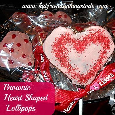 Heart Shaped Brownie Lollipops!