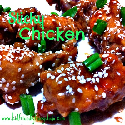 Slow Cooker Sticky Chicken!