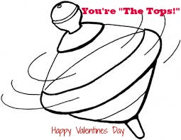 Add a top to this free printable for a non-candy Valentine's Day idea!
