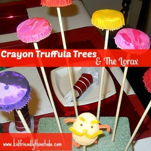 Truffula Trees from recycled crayons!