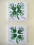 Four Leaf Clover Hand Print Art. A cute kid's St. Patrick's Day Craft!
