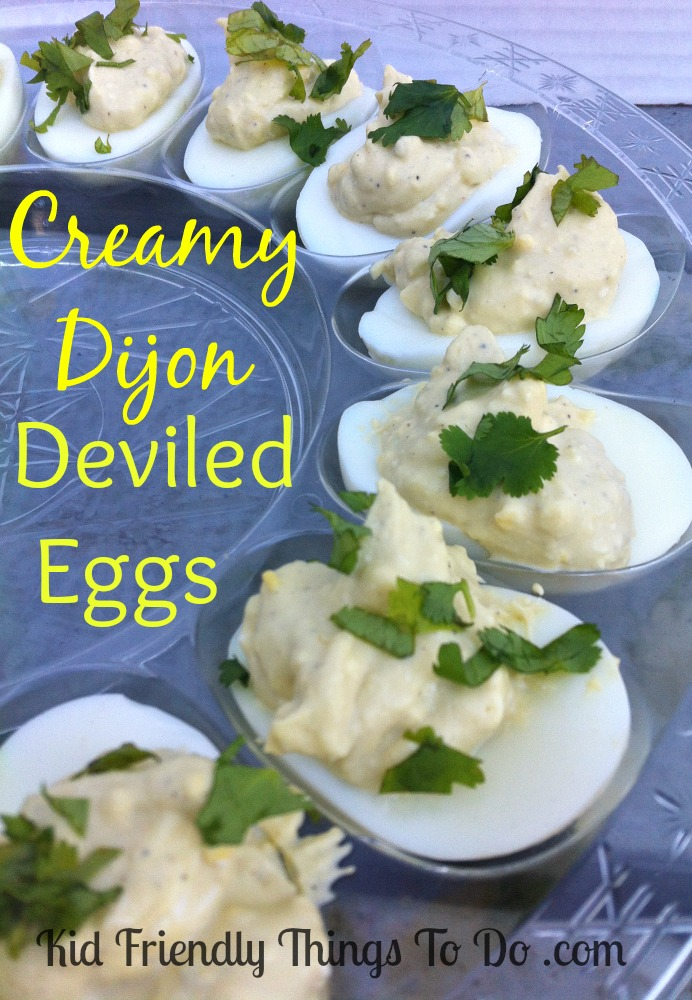 Creamy Dijon Deviled Eggs - Gone in seconds!