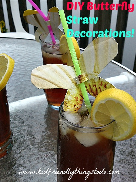 DIY summer drink decorations! Use a paper plate to transform summer drinks! Guests, and kids will love this!
