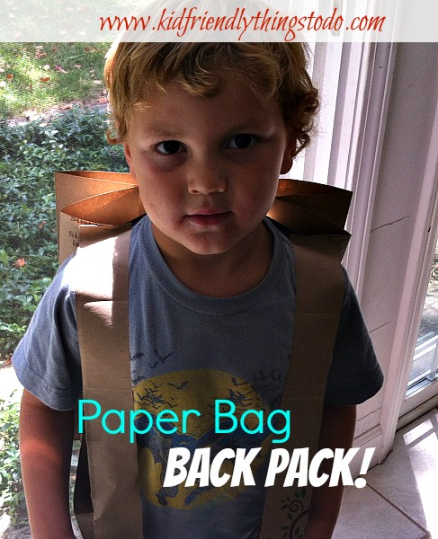 Making a backpack out of a paper bag! This was a craft in a Sunday School lesson on sharing. I can see this used as a craft on recycling, holding writing prompts, nature, etc...!