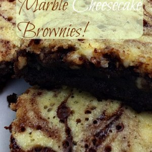 My two favorite desserts in One! Cheesecake, and brownies!