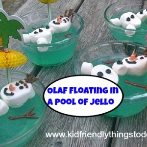 How to make an Olaf From Frozen Dessert! I love how easy this is!