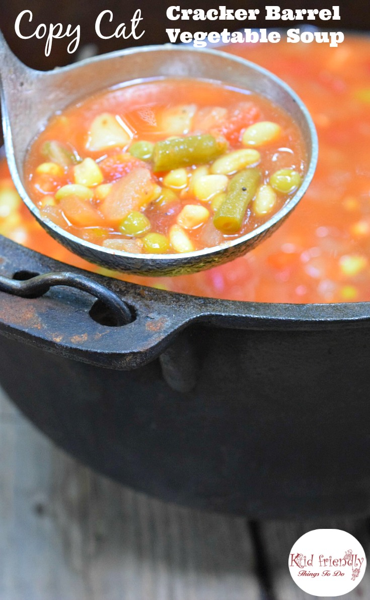 Copycat Cracker Barrel's Vegetable Soup