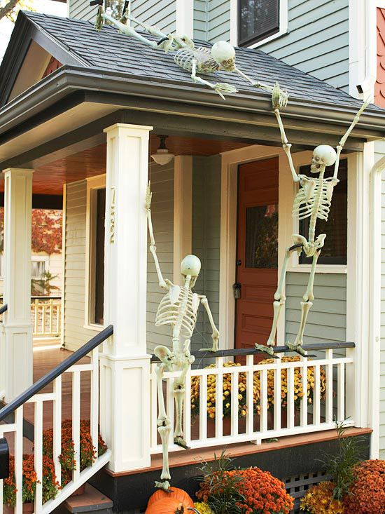 hilarious skeleton yard displays for halloween - Skeleton Decorations