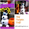Olaf from Frozen on Halloween! What an awesome way to decorate your porch for Halloween! The trick or treaters will go crazy!