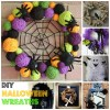 DIY Halloween Wreaths! I absolutely love these!!!!
