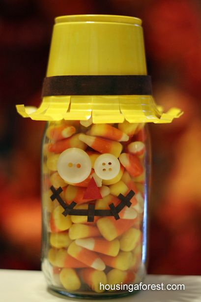 Oh my gosh! If you change this out to a plastic bottle for little ones, it's perfect for Fall, and Halloween Parties! Love it! From Housing A Forest .com