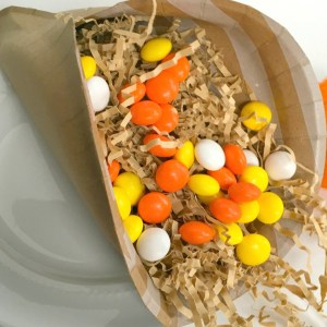 Easiest Thanksgiving Craft Ever! A paper plate Cornucopia! - KidFriendlyThingsToDo.com