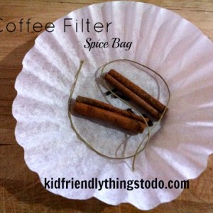DIY Spice Bag! Don't have a spice bag? I bet you have a coffee filter! Good to know substitute spice bag for your next delicious drink or simmering potpourri!