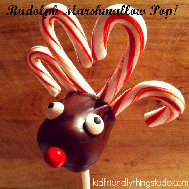 Rudolph Marshmallow Lollipops! So stinking adorable!