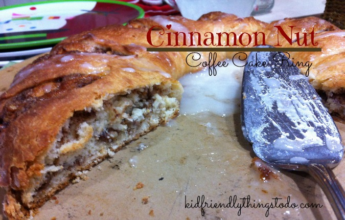 Cinnamon Nut Coffee Cake Ring - Can be made the night before