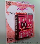 Found adorable Valentine Box at the Dollar Tree! 18 for $1! Pair them with this Free Valentine Printable from Kid Friendly Things To Do .com! Sweet Deal. Great Non-Candy Valentine!