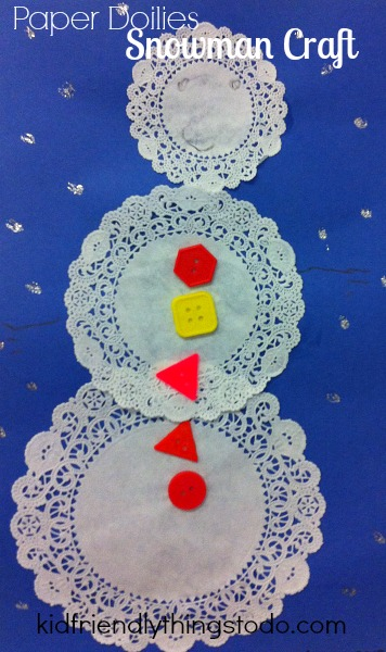 A sweet and simple snowman preschool and kid's winter craft