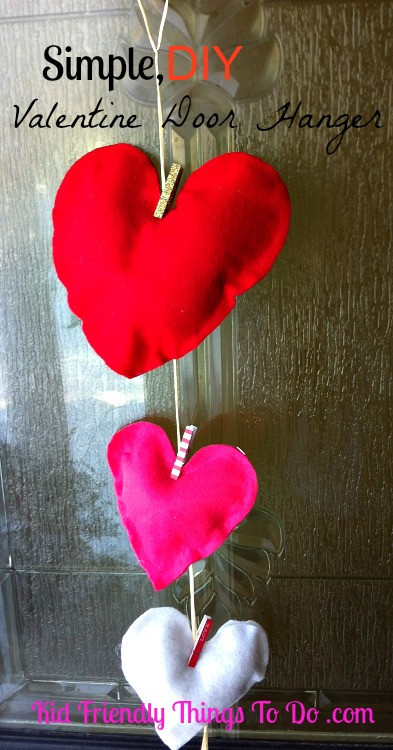 Rustic, Simple and Cute Valentine Door Hanger