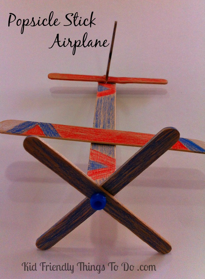 Popsicle Stick Airplane Craft