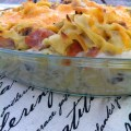 Ham and Mushroom Noodle Casserole - A great use of that holiday leftover ham!