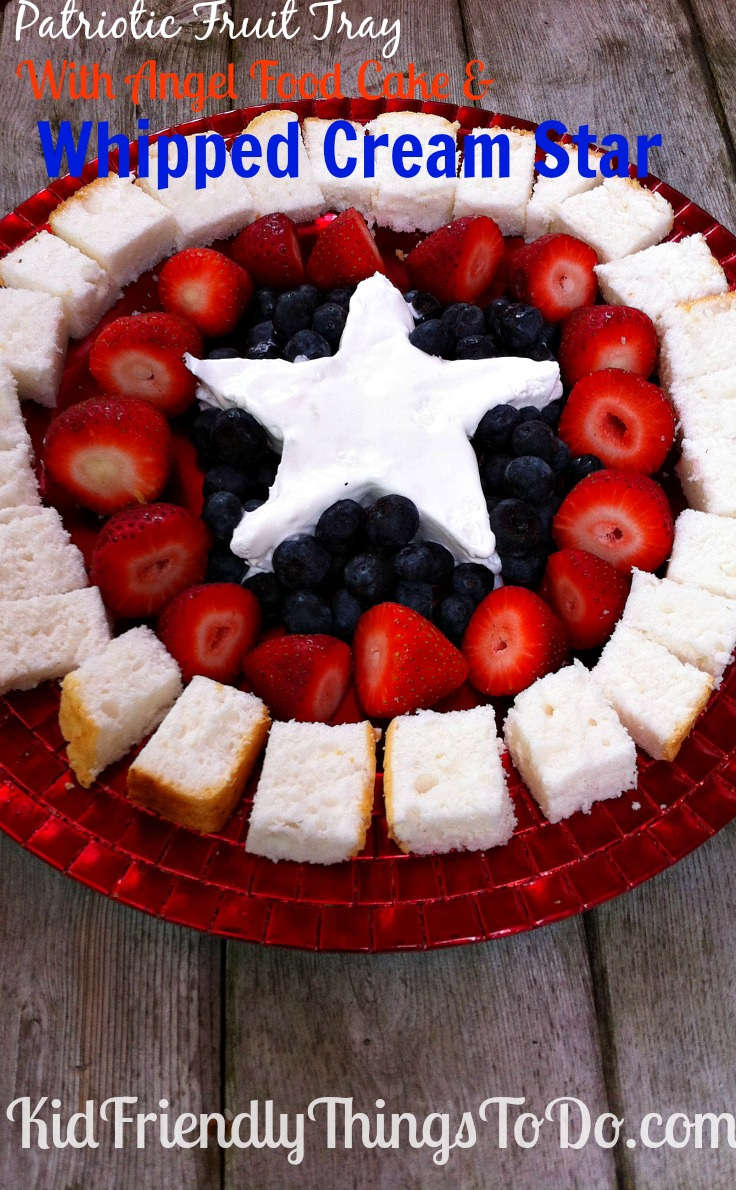 This Patriotic Fruit Tray Looks A Lot Like Captain Americas Shield Whipped Cream Star In