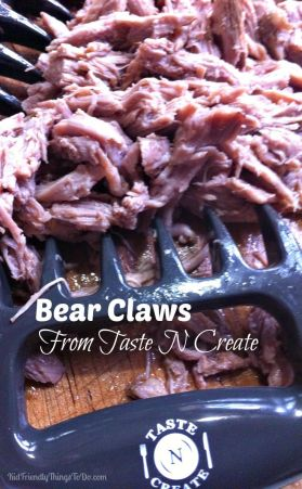 Pulled Pork Sandwiches and Bear Claws from Taste N Create