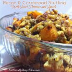 The most delicious Pecan and Cornbread Stuffing with Sweet Potatoes and Squash! - KidFriendlyThingsToDo.com
