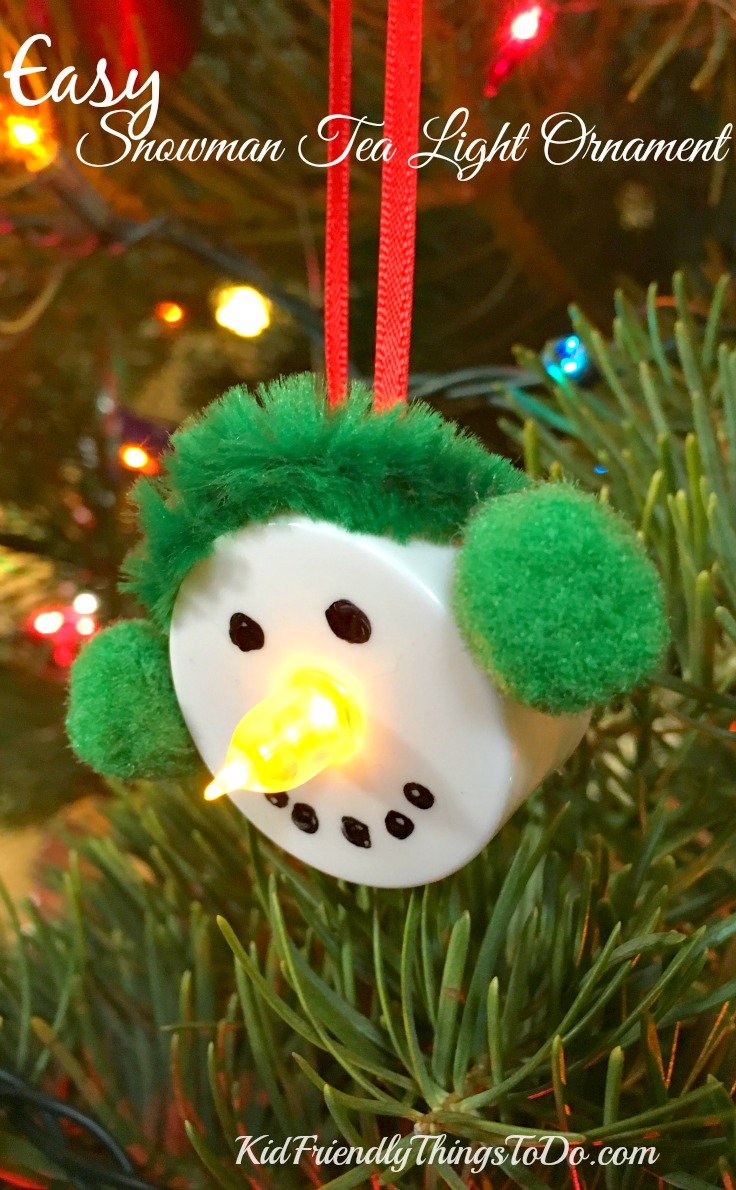 simple christmas crafts easy snowman tea light ornament craft 2931
