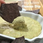 Three Ingredient Easy White Queso Dip for the crock pot (slow cooker) or stove top - KidFriendlyThingsToDo.com