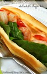 Shrimp Po' Boy Sandwich with Roasted Red Pepper Aioli - KidFriendlyThingsToDo.com
