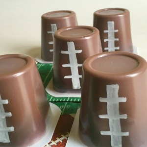 Football Pudding Snacks for a fun Game Day food - KidFriendlyThingsToDo.com