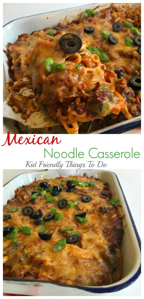 Mexican Noodle Casserole Recipe - KidFriendlyThingsToDo.com