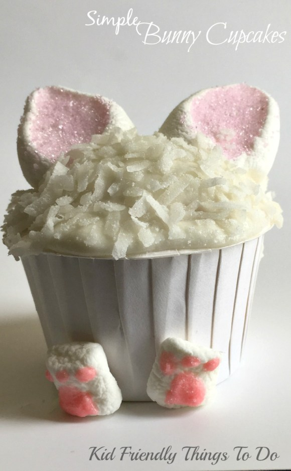 Easy Easter Bunny Cupcakes - Adorable and Simple to make - KidFriendlyThingsToDo.com